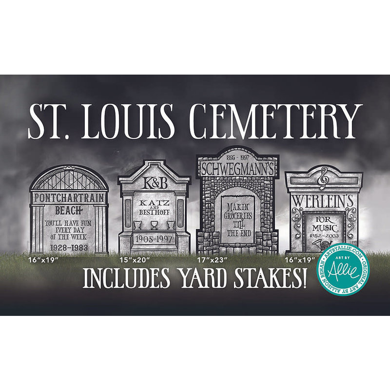 Art By Allie St. Louis Cemetery Yard Signs Set of 4
