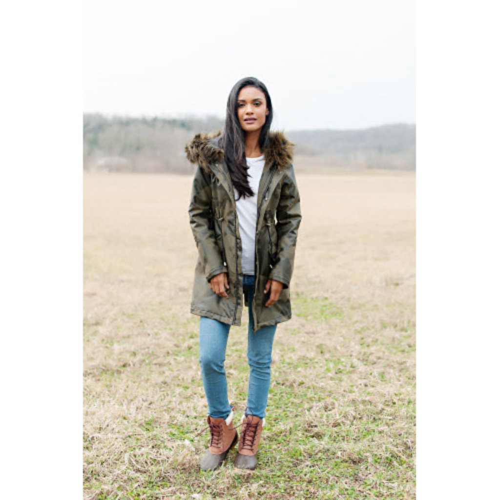 Fabulous Furs Anorak Coat Camo