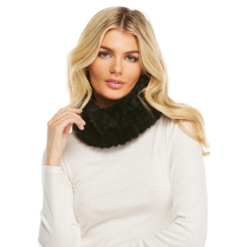 Fabulous Furs Knitted Fur Neckwarmer Black