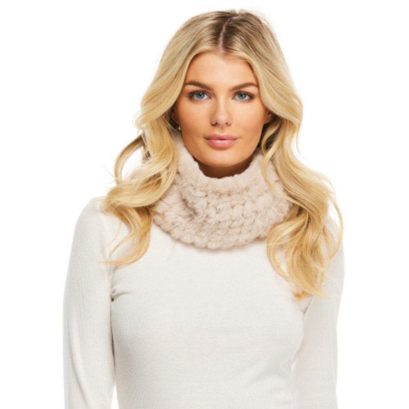 Fabulous Furs Knitted Fur Neckwarmer Sand