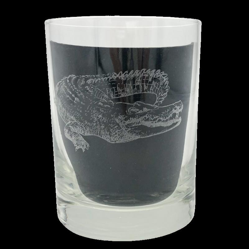 Leonard Etched Alligator Glass