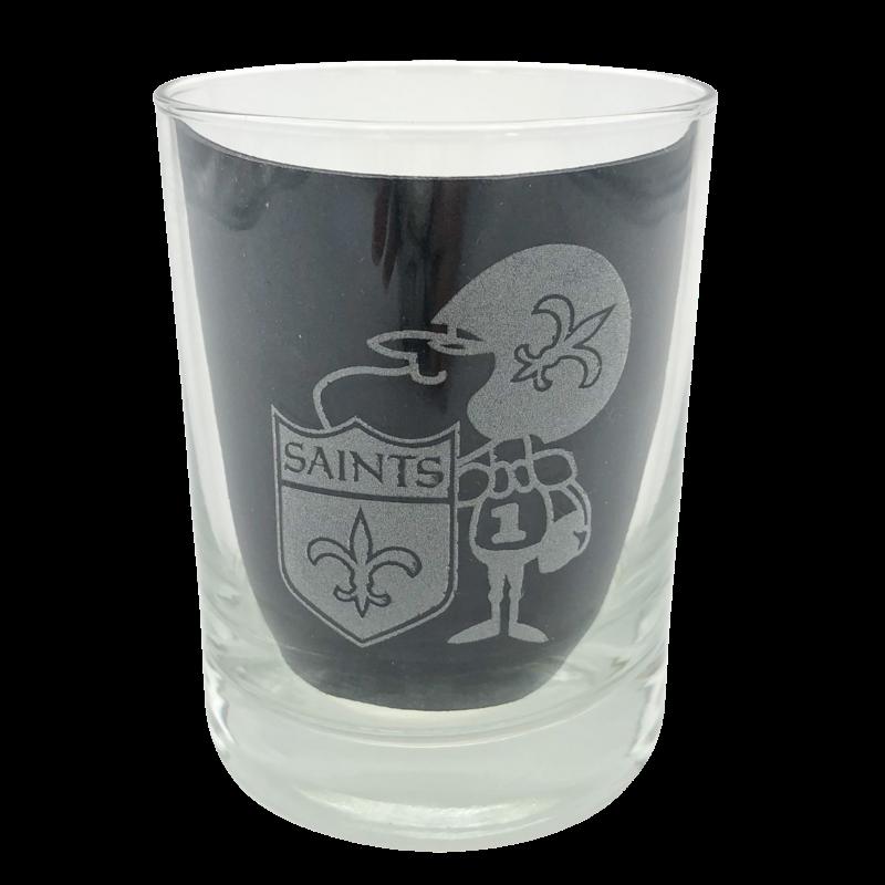 Leonard Etched Sir Saint Glass