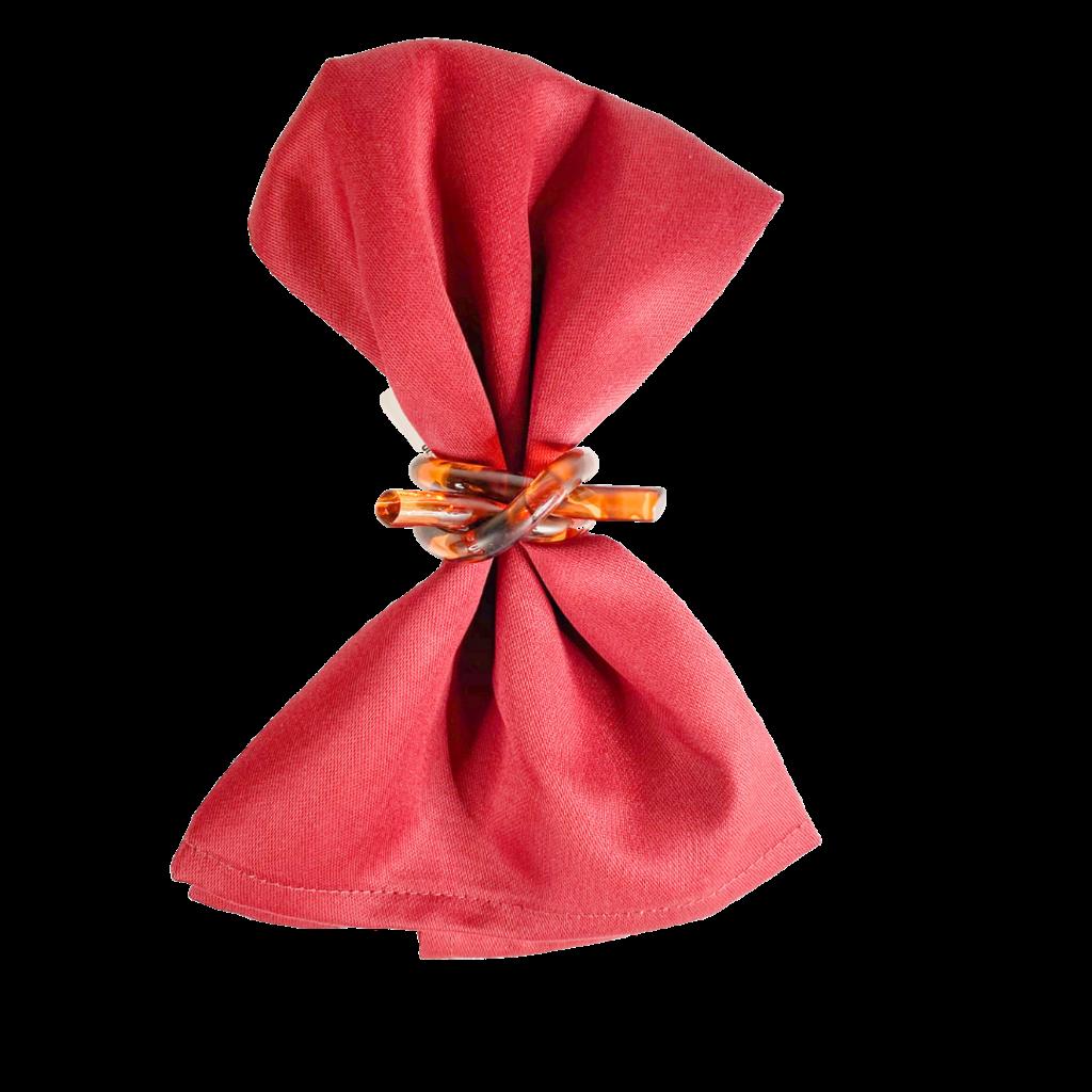 Garnier Thiebaut Napkins Plain Satin Confettis Aubergine Plum 18x18