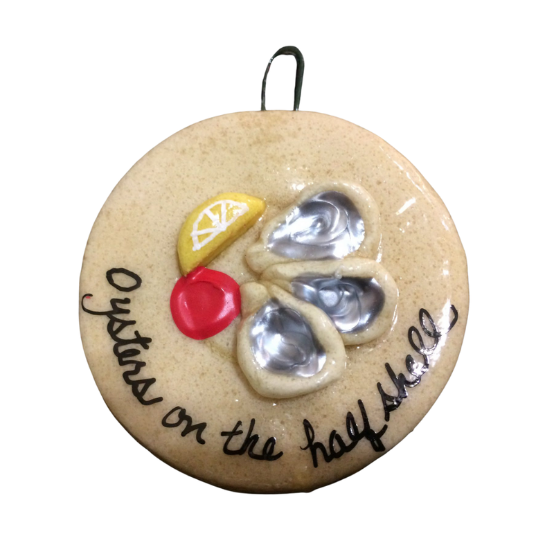 Crescent City Ornament Oyster on the halfshell Ornament
