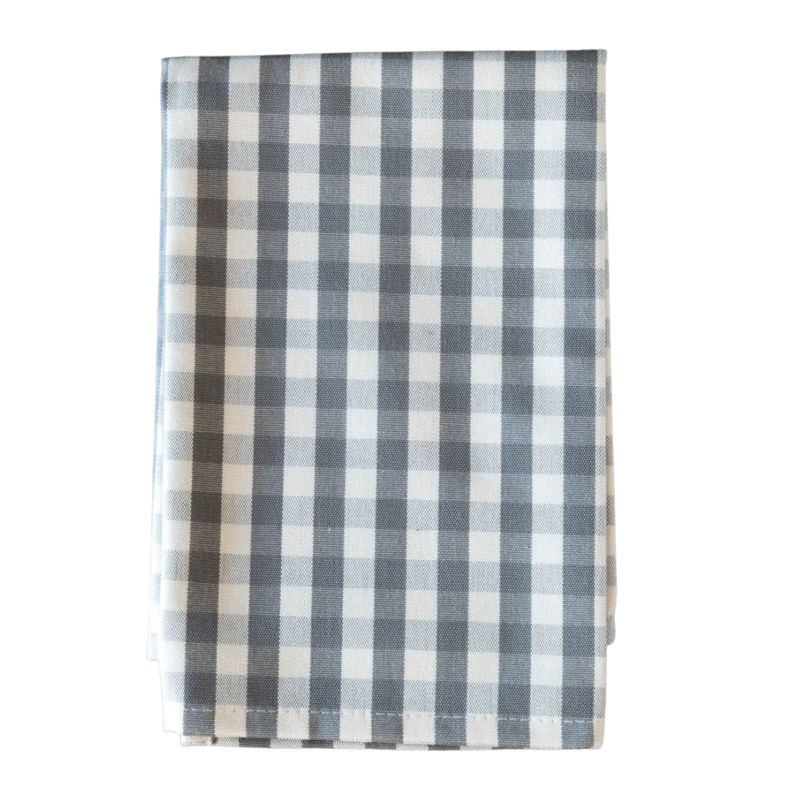Park Hill Taupe Gingham Cloth Napkin