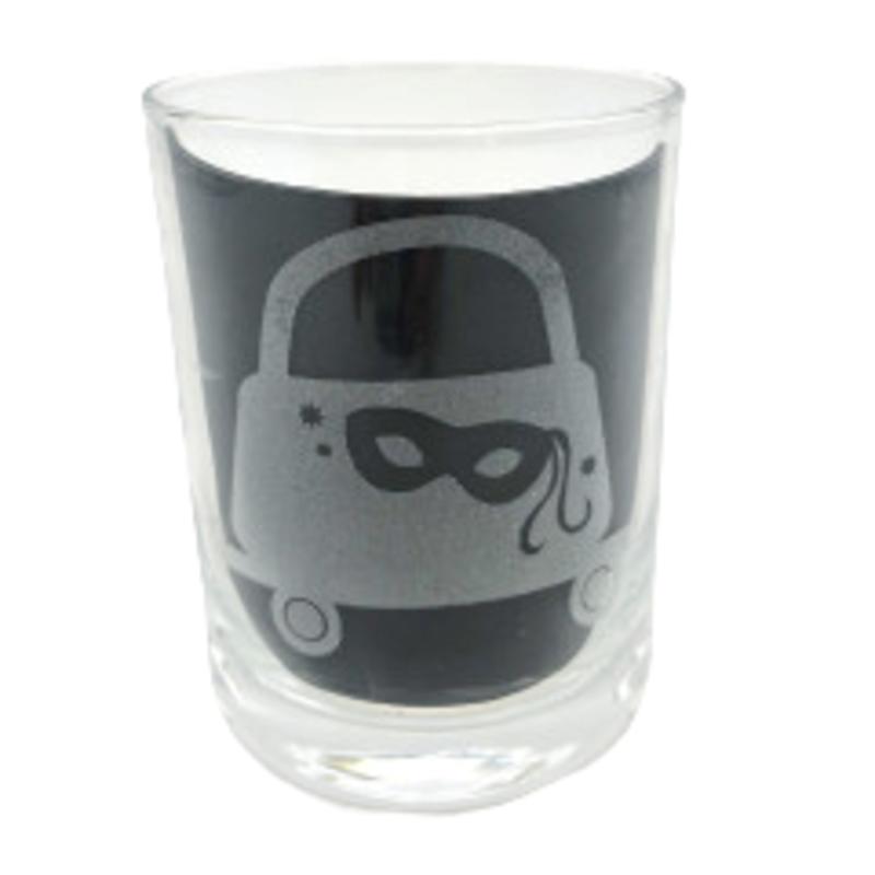 Leonard Etched Mask & Purse Glass