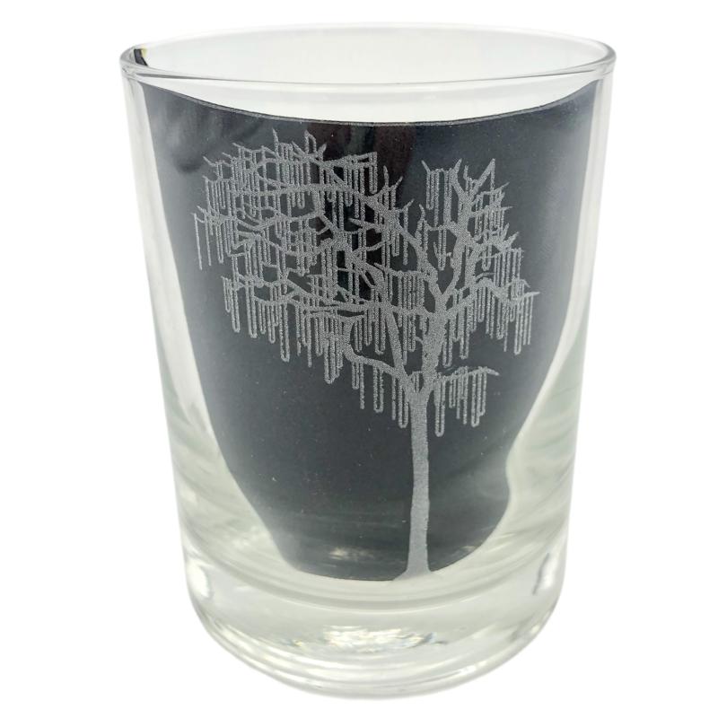 Leonard Etched Bead Tree Glass