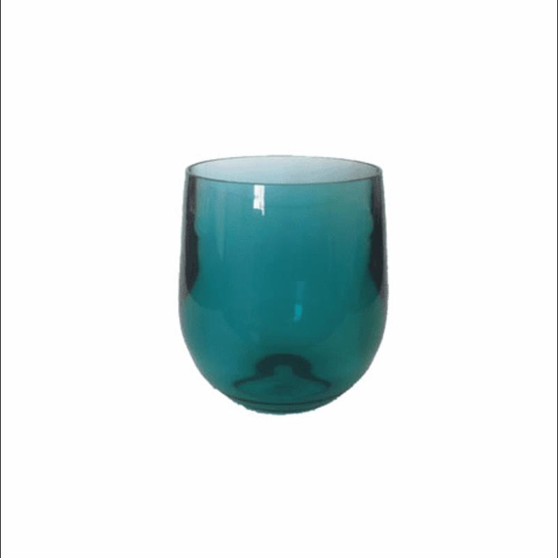 Caspari Caspari Crystal Acrylic Tumbler Turquoise