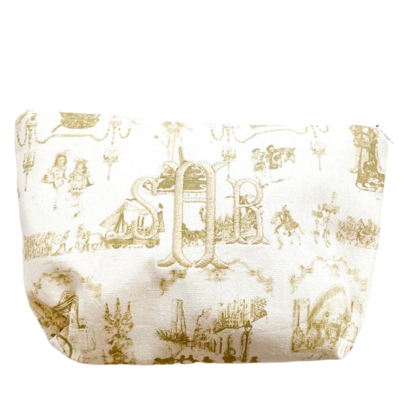 Jennifer Grehan Mardi Gras Toile Cosmetic Bags
