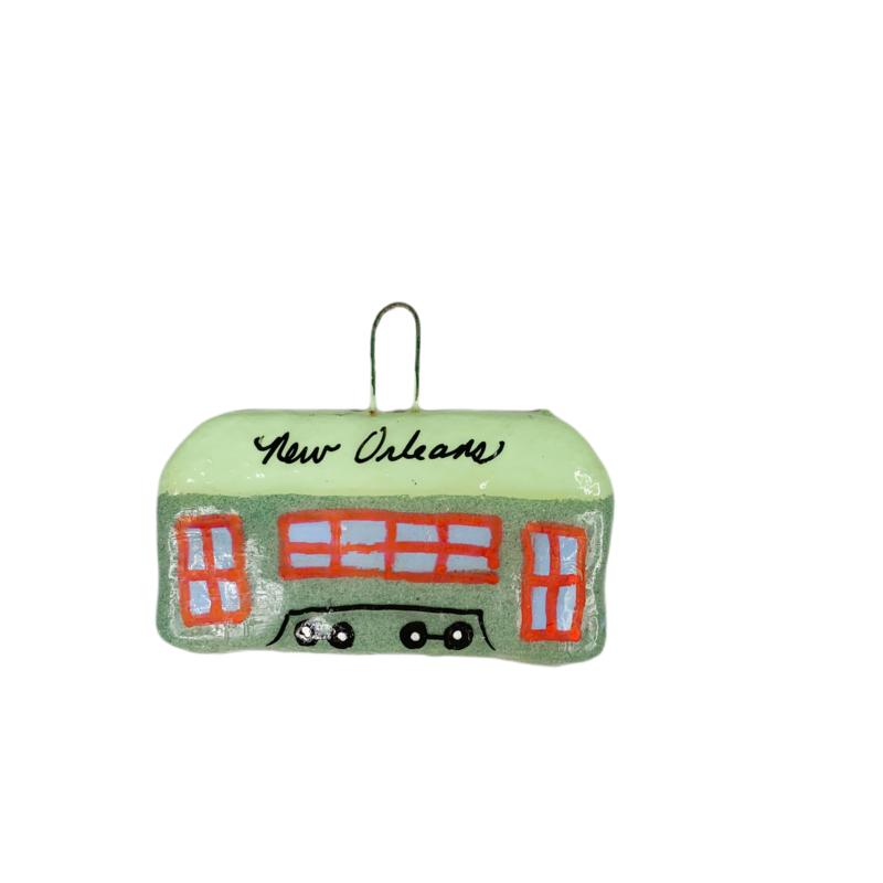 Crescent City Ornament Streetcar Ornament
