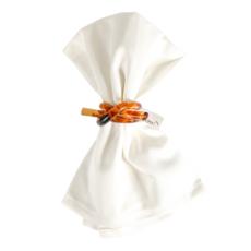 Garnier Thiebaut Napkins Plain Satin Confettis White 18 x 18