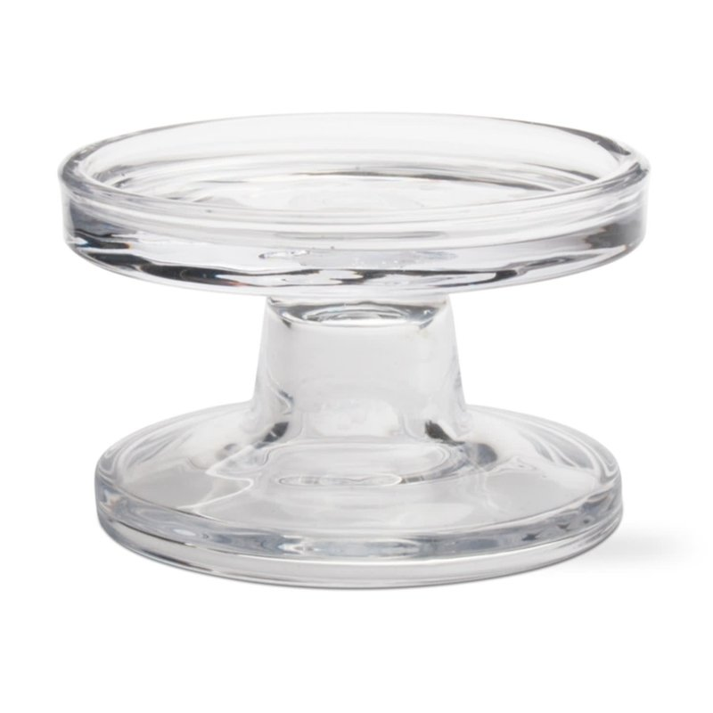 Tag Bobbin reversible glass candle holder