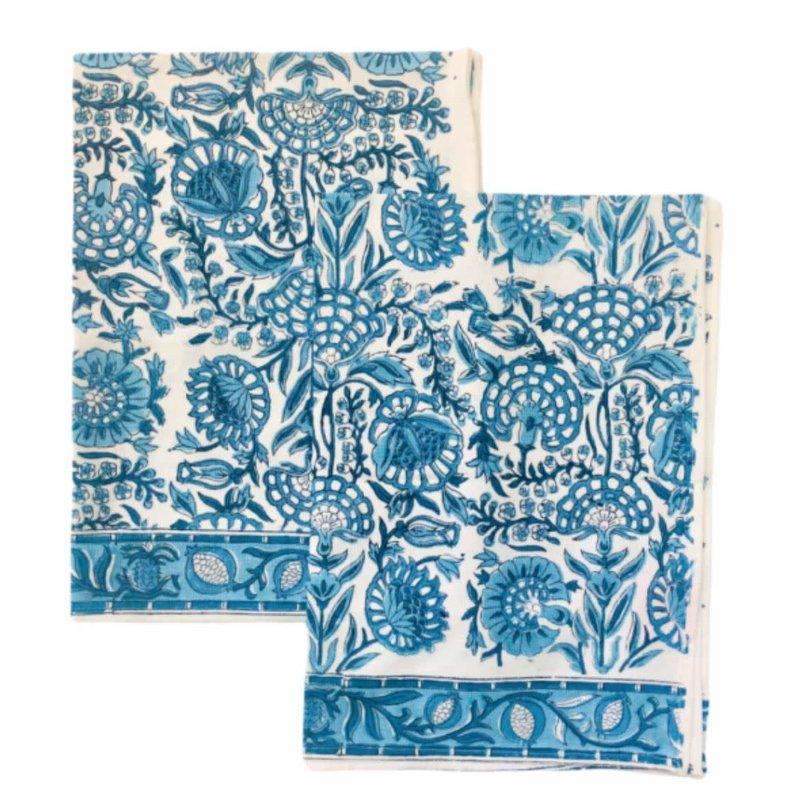 Pacific & Rose Textiles Caroline Blue Napkins 20''x 20'' Set of 4