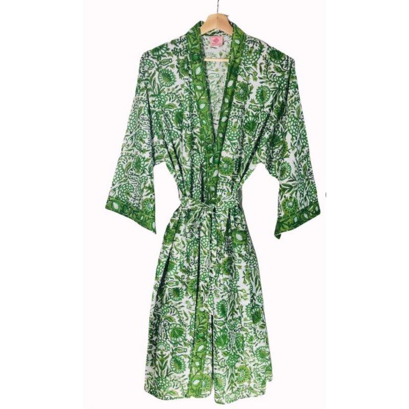 Pacific & Rose Textiles Caroline Green 45'' Kimono Robe