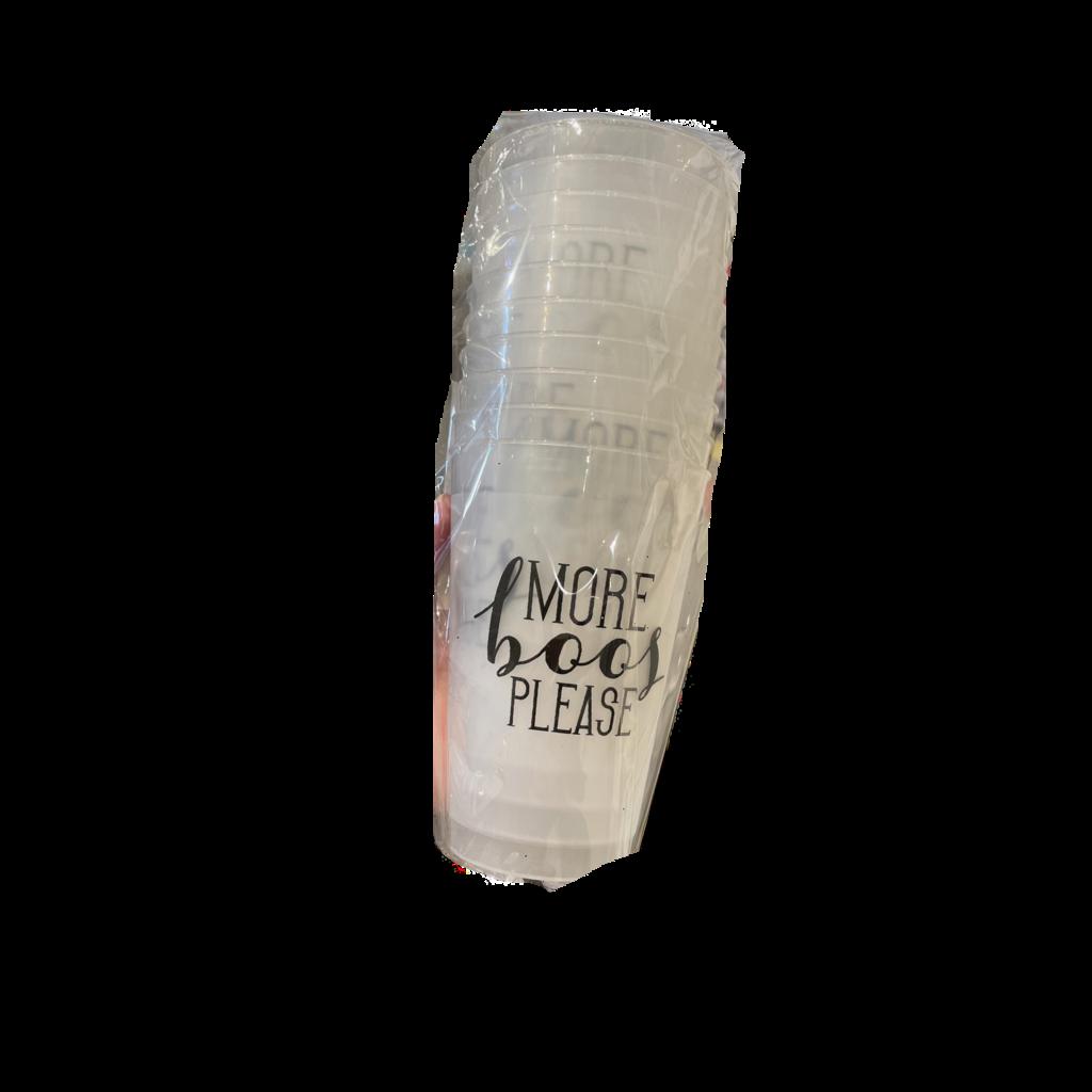 Elle Paperie More Boos Please Plastic Cups 20 oz (10)
