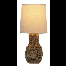 Ganz Jute Accent Lamp Round Base