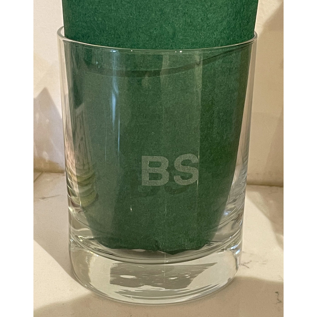 Leonard Etched Sweary Glass BS