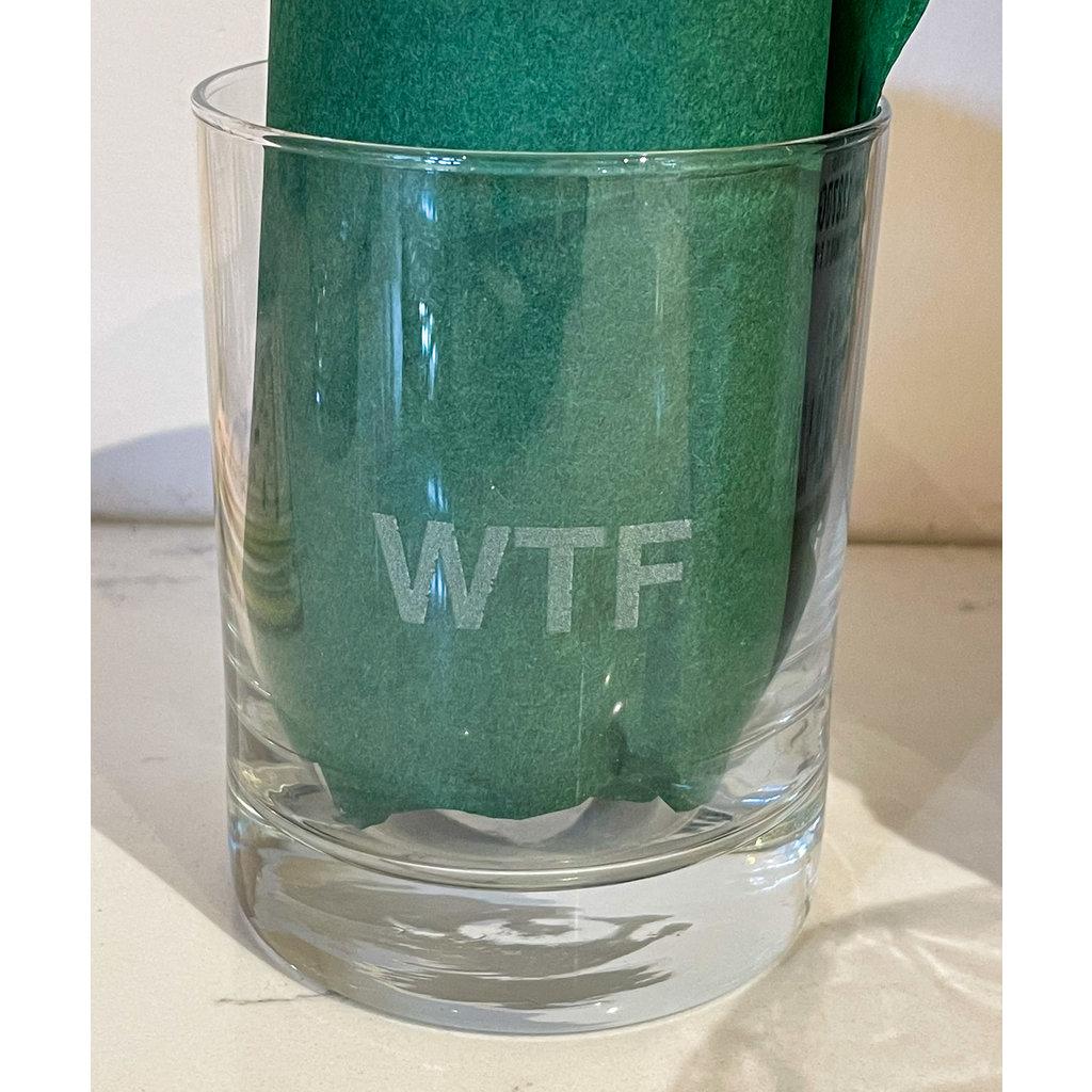Leonard Etched Sweary Glass WTF