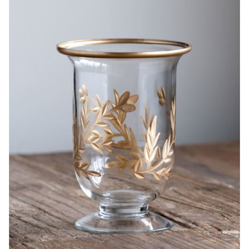 Park Hill Golden Leaf Footed Vase