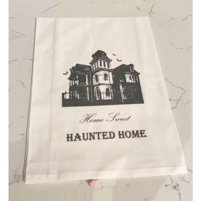 Monique Perry Home Sweet Haunted Home Tea Towel