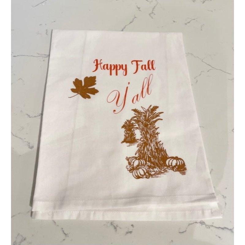 Monique Perry Happy Fall Y'all Tea Towel