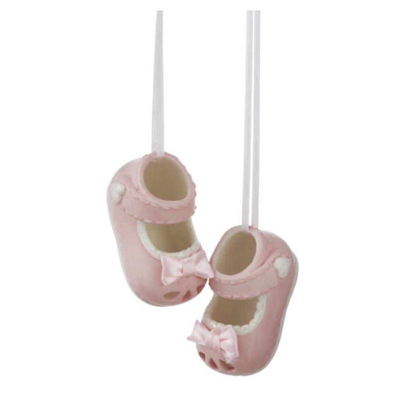 Ganz Girl Baby Shoe Ornament Set (2 pc. set)