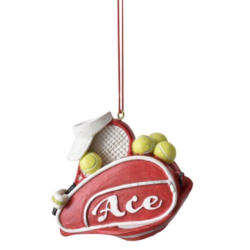 Ganz Tennis Bag Ornament - Ace