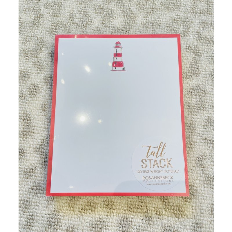 Roseanne Beck Tall Stack Pad-Handpainted Lighthouse with Red Border