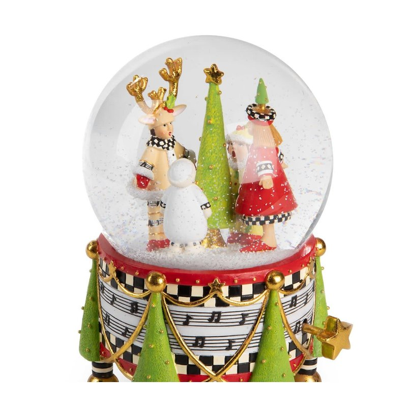 Patience Brewster by Makenzie Childs Patience Brewster Holiday Carolers Snow Globe