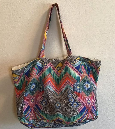 colorful tote past its prime