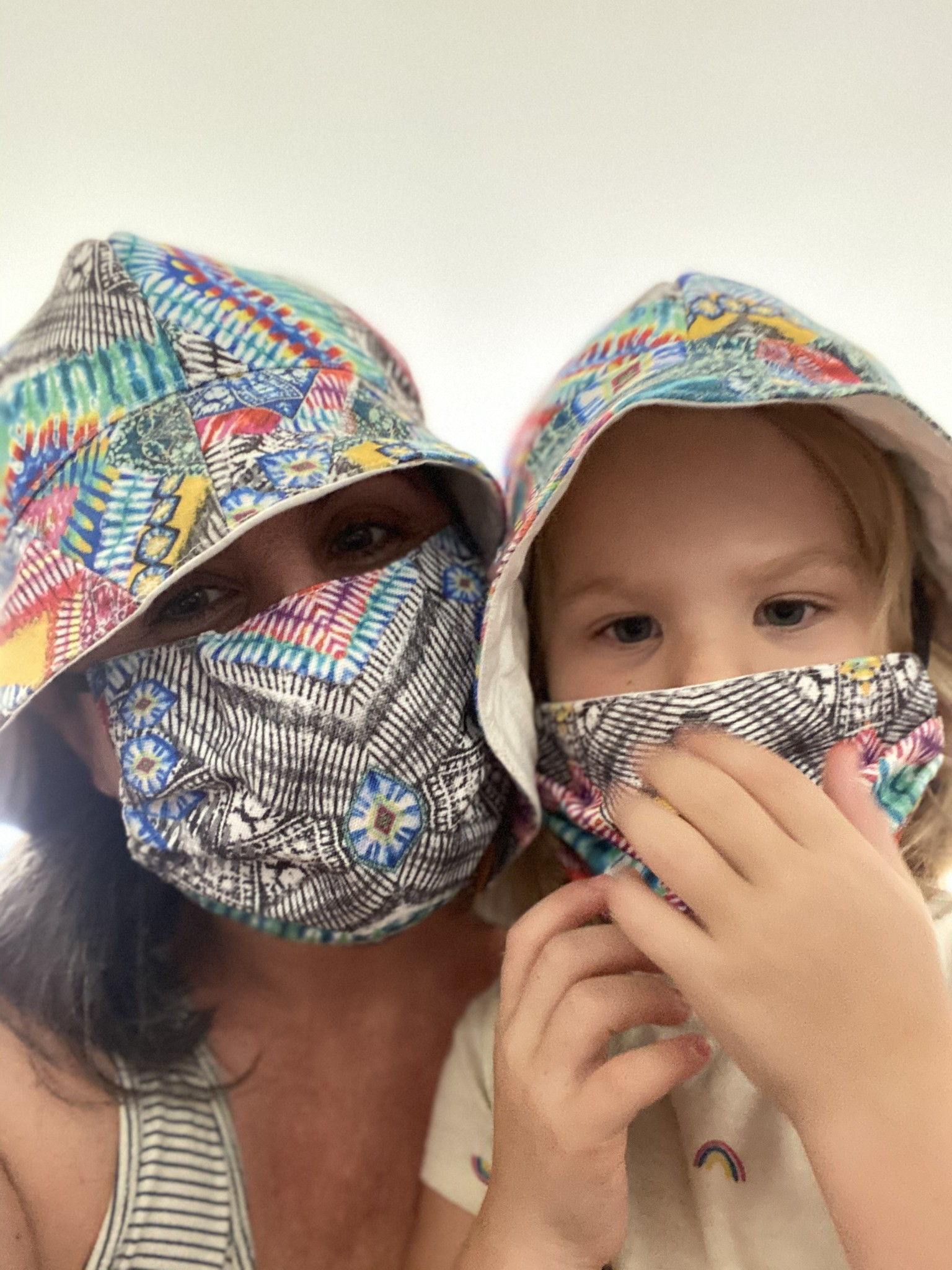 mommy and me masks and bucket hats
