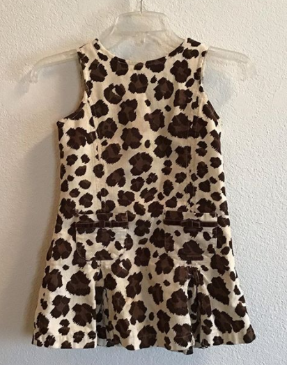 cheetah corduroy dress