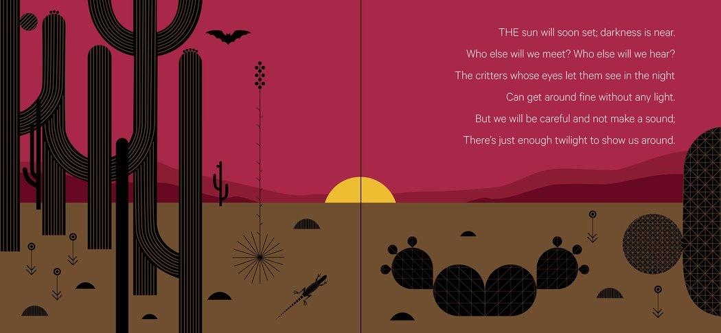 Charley Harper What's in the Desert sunset