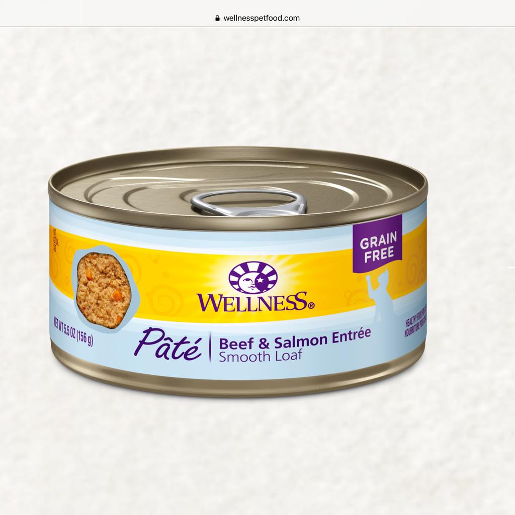 Wellness Wellness Beef/Salmon 6oz