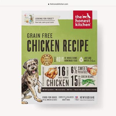 Honest Kitchen Honest Kitchen HK Grain Free  Chicken Force 10#