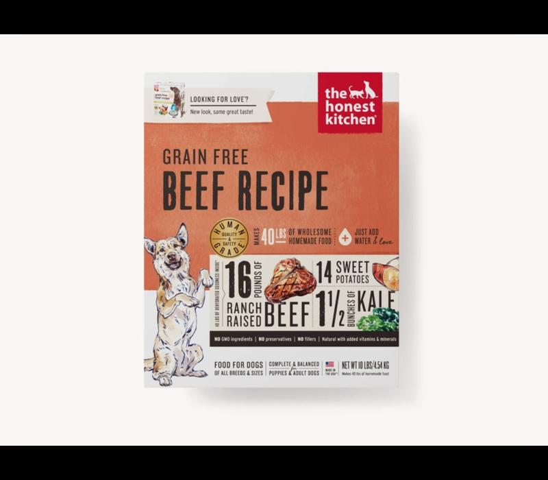 Honest Kitchen HK Grain Free Beef Love 10#