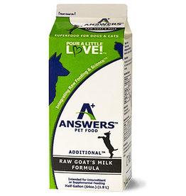Answers Pet Food Frozen Answers Goat's Milk 1/2 G