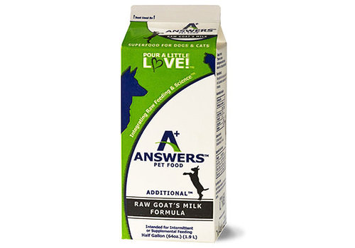 Answers Pet Food Frozen Answers Goat's Milk 1/2 G