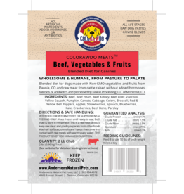 Anderson's Natural Pet Food ColoRAWdo Beef Bulk 20#