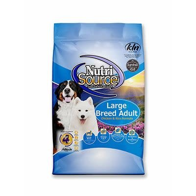 NutriSource NutriSource NS Large Breed Adult Chicken/Rice 30#