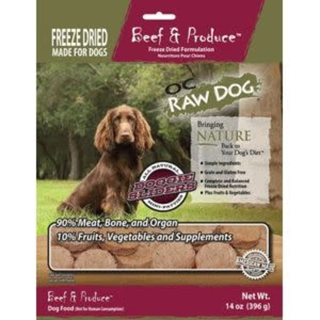 OC Raw OC Raw Freeze Dried Beef Slider 14oz