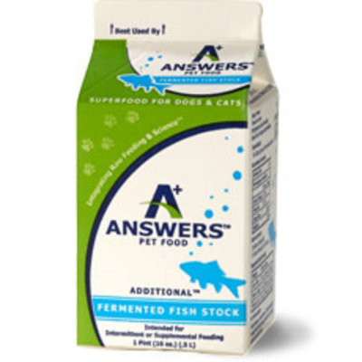 Answers Pet Food Frozen Answers Fish Stock Pint