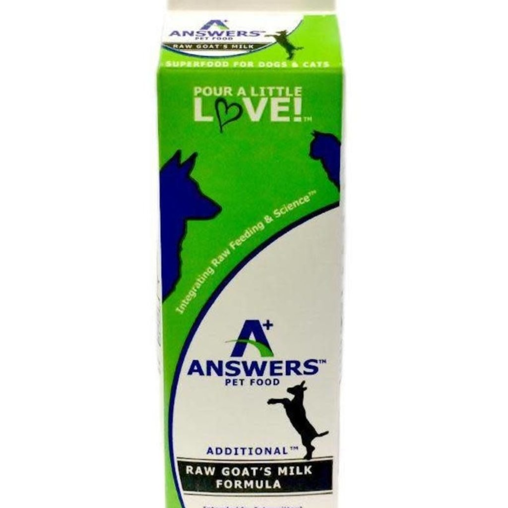 Answers Pet Food Frozen Answers Goat's Milk Pint