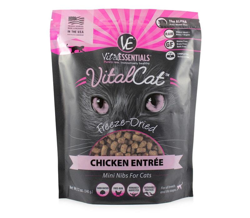 Vital Essentials FD Chicken Mini Nibs Cat 12oz