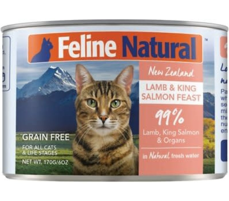 Feline Natural Lamb & King Salmon GF 6oz