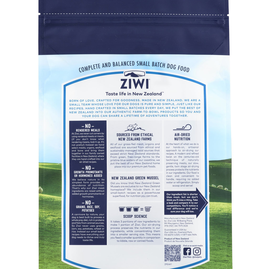 Ziwi Peak Ziwi Peak Air-Dried Dog Lamb 2.2lbs