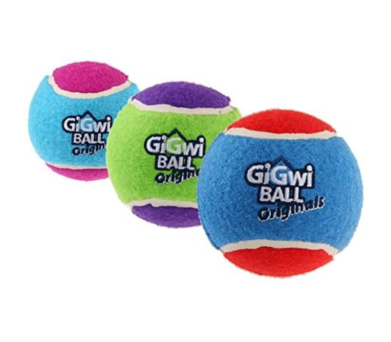 GiGwi Tennis Balls (3 Pack) - Medium