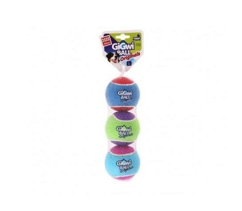 GiGwi Tennis Balls (3 Pack) - Small