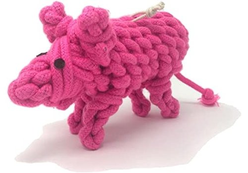 Peaks N Paws Toys Peaks N Paws Pinky The Pig Rope Toy