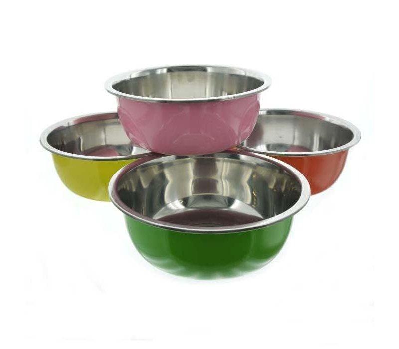 Bonita Large Metal Bowl Asst Colors